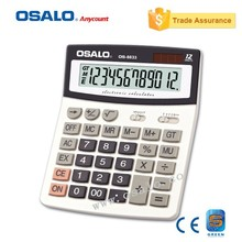 OS-8833 Office Electronic Calculating 12 Digits Big Display Calculator Dual Power Solar Desktop Calculadora