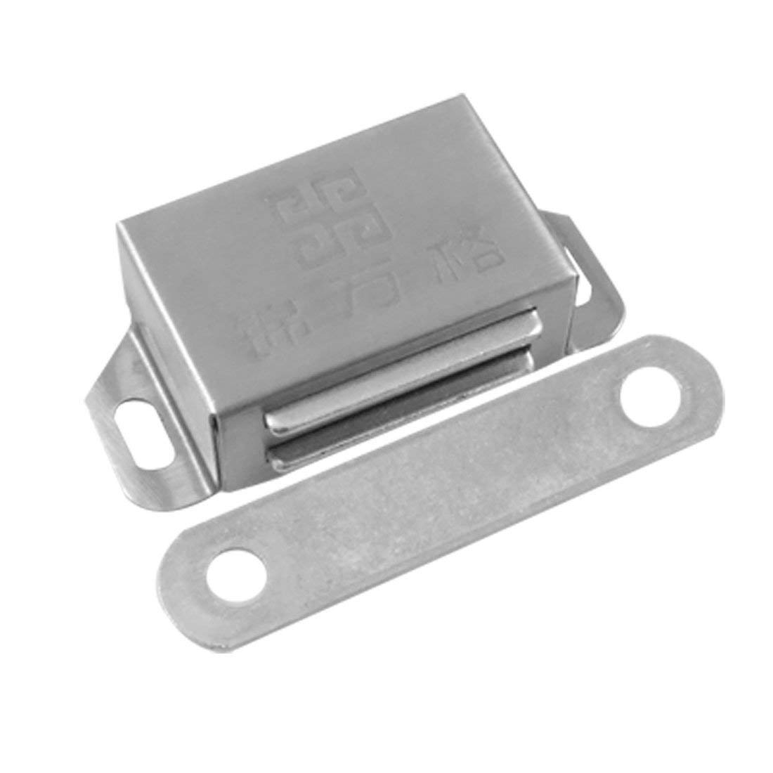 """Aexit Metal Silver Cabinet Hardware Tone 2.1"""" Length Catch Latch for Catches Cabinet Cupboard"""