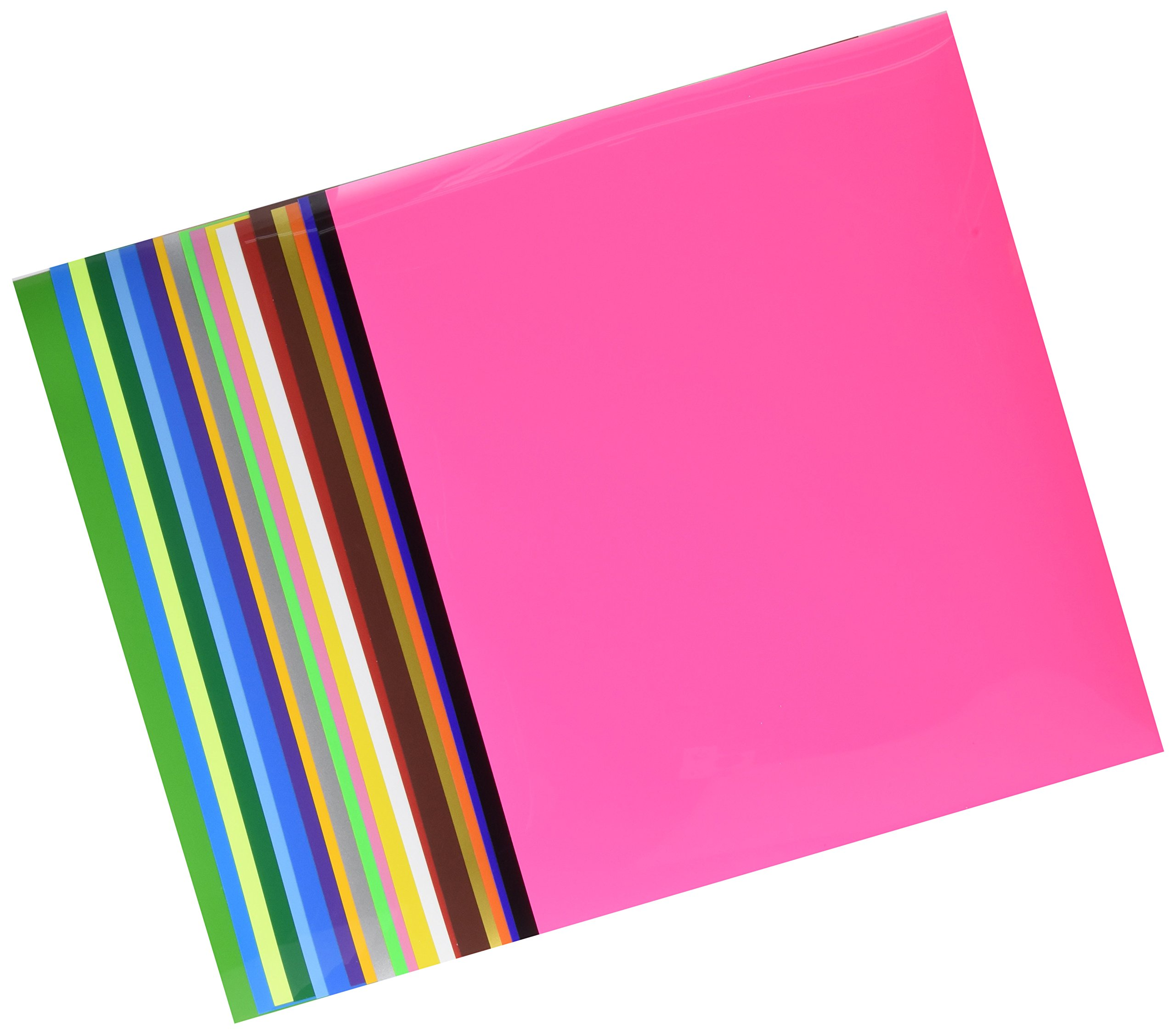"""Heat Transfer Vinyl Bundle   20 Sheets   12""""x10"""" Iron On Assorted Colors   DIY HTV Silhouette for Cameo, Cricut, Die-Cut or Heat Press Machine"""