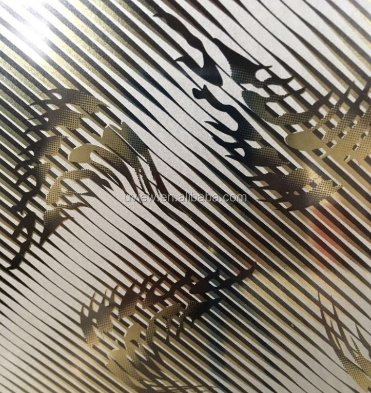 Titanium PVD coated stainless steel clad decoration sheet and plate
