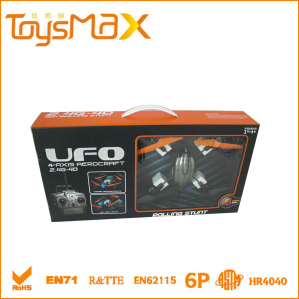 Hot sales 4 Channel UFO 4 Axis RC Plastic Toy Flying Saucer