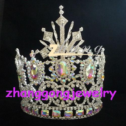 تيجان ملكية  امبراطورية فاخرة India-big-AB-crystal-pageant-tiara-and