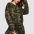 hot selling drop shoulder camo print pullover & sweatpants set women 2pcs tracksuit