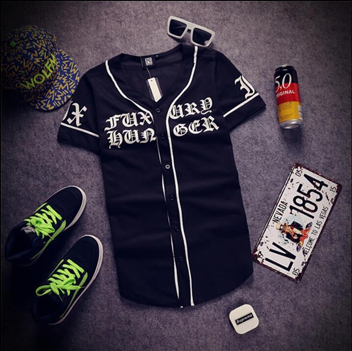 0f3e1f38f44 Wholesale 2015 Mens Summer Tee Shirt Last Kings Lk Tyga Striped Baseball  Tshirt Devanagari Baseball Shirt Hip Hop Streetwear For Man Humorous T Shirt  Cool ...