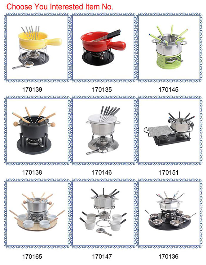 Hot Koop Winter Rvs Chocolade Fondue Set Kaas Fondue Set