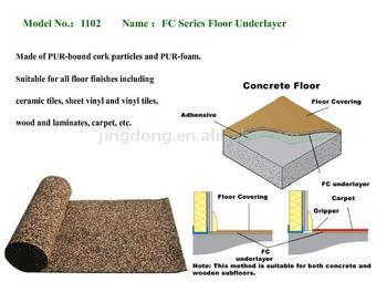 Pur foam cork floor underlayer buy acoustic anti for Cork playground flooring
