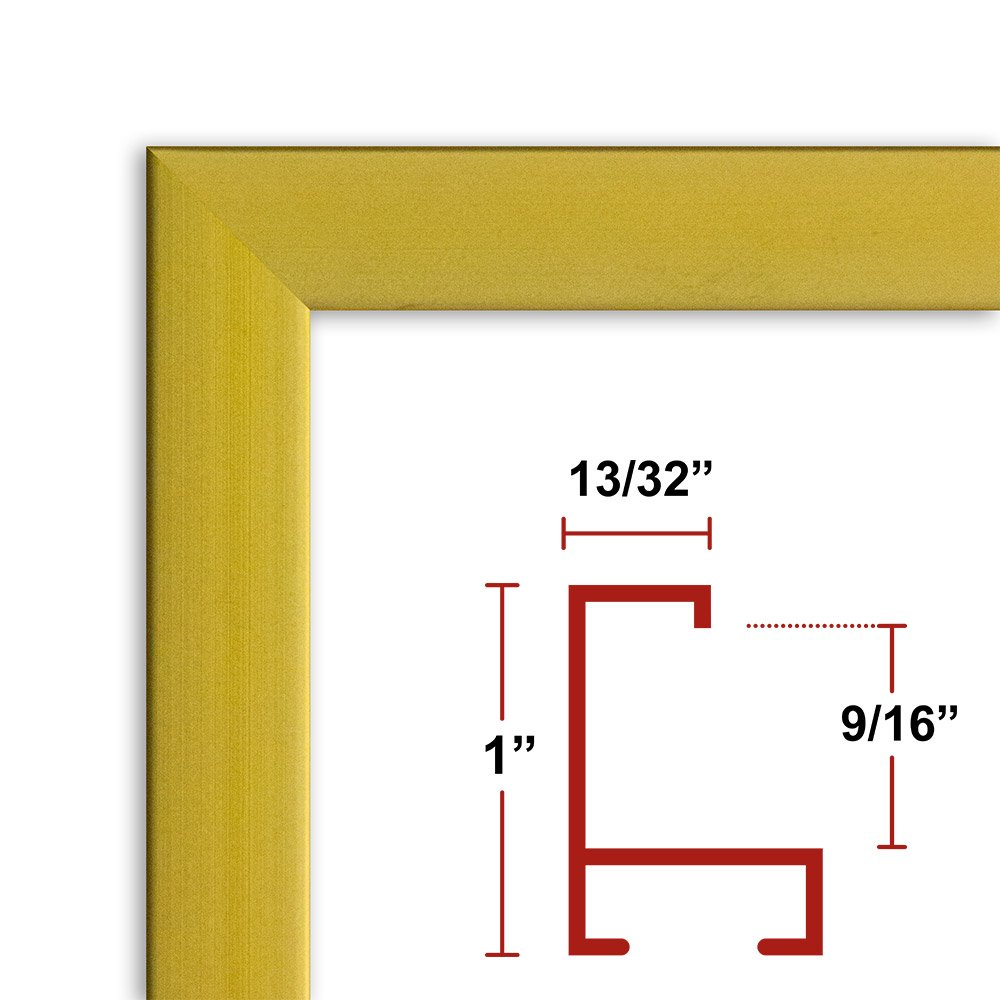 ArtToFrames 19x35 inch Mahogany and Burgundy with Beaded Lip Picture Frame 2WOMN9590-19x35