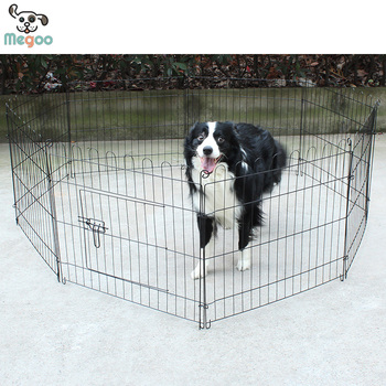 Beau Strong Paint Wire Large Dog Fence Retractable Folding DIY Outdoor Pet Fence  Cage