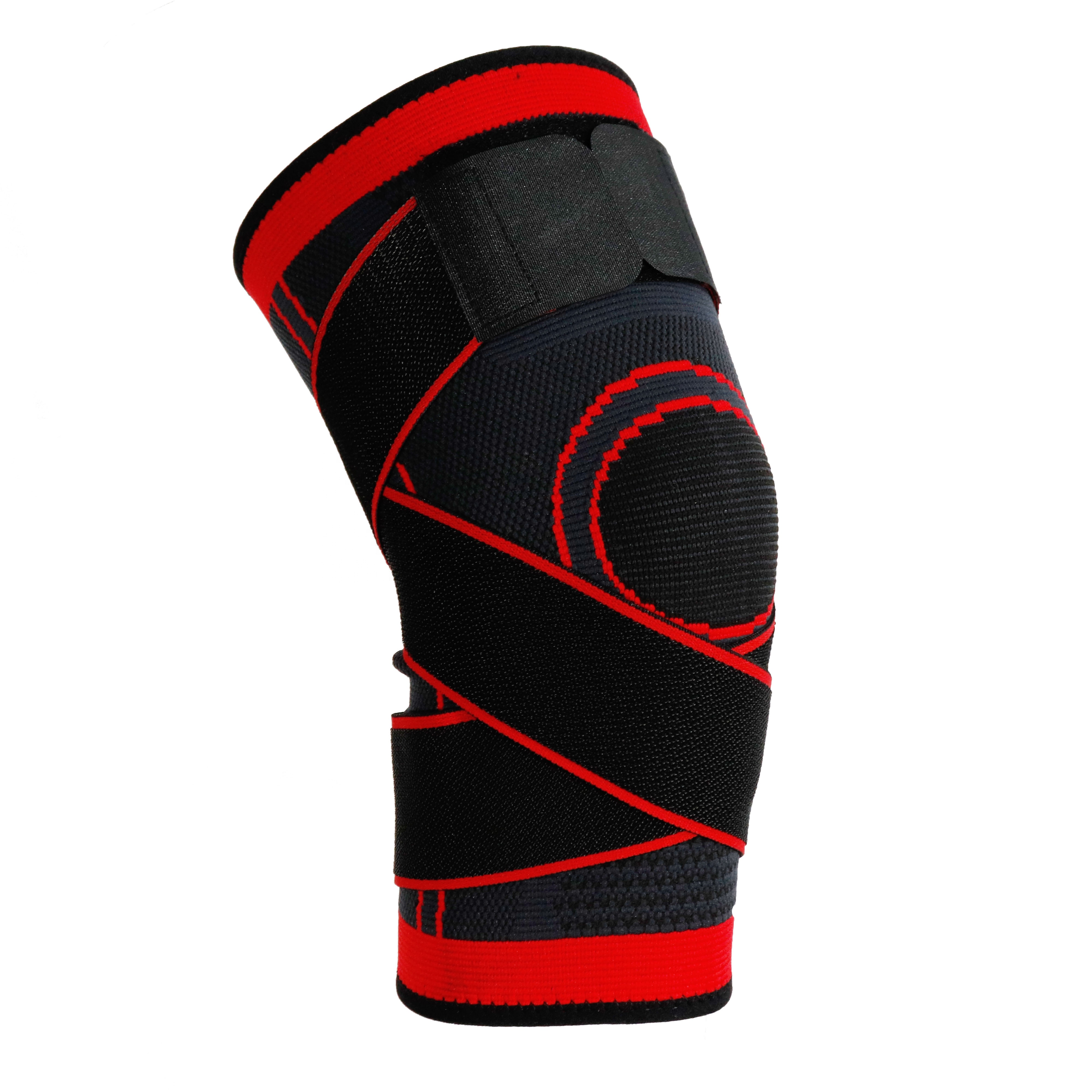 Unisex Knee Support Brace for Hot and Cold Therapy Adjustable Wrap Multi-Purpose Reusable, Orange