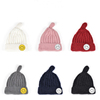 2016 new style women knitted hats/caps with ball top beanie caps with smile face