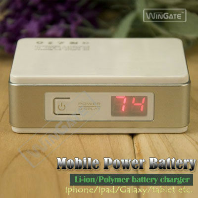 4400mA/h external rechargeable battery pack mobile power bank for iph one mp3 mp4