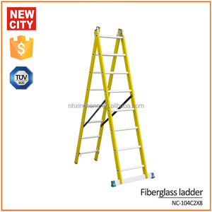 Best quality multi-function 8 steps 3 meters fiberglass step ladder telescopic