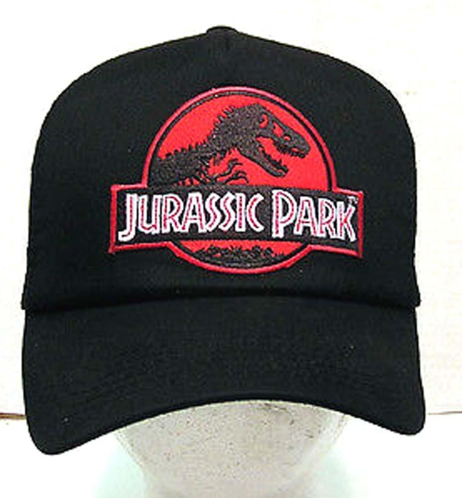 Get Quotations · JURASSIC PARK Red Logo Baseball Trucker Cap Hat w Patch 070438ab513b