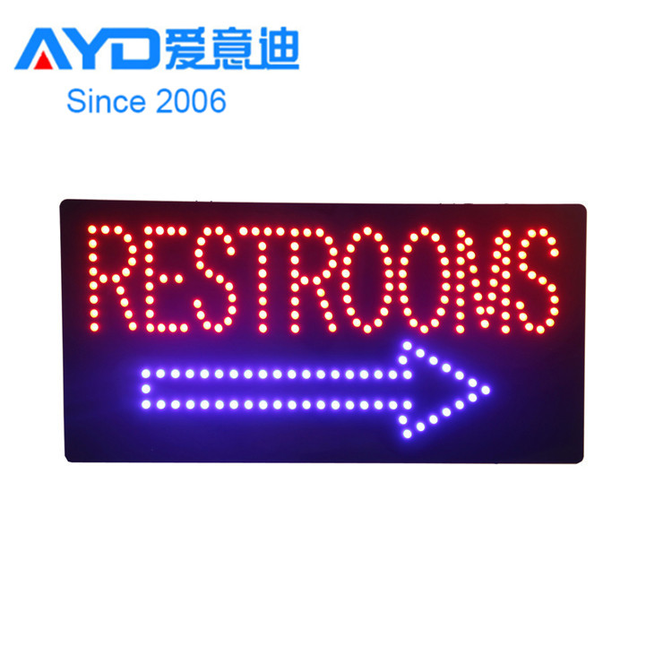 Alibaba China <strong>Express</strong> Acrylic Fasher Restroom Road Sign LED Advertising Light Boxes Shop Tire Stand