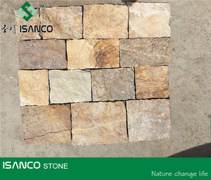 Irregular slate wall cladding tiles random culture stone for wall decoration