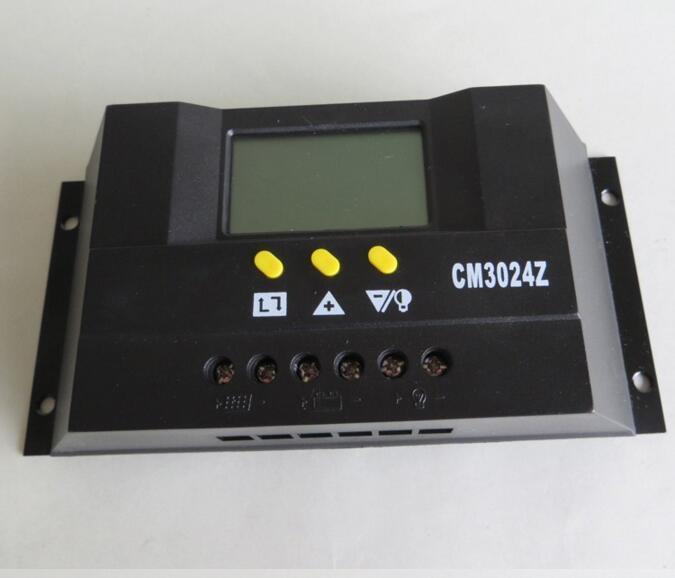 Cn /_ /_ 30A 12//24v Solaire Régulateur Charge LCD CM3024Z Tension Courant Control