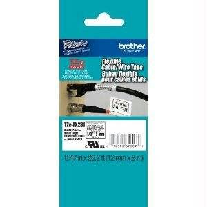 "Brother Tze Fx231 - Flexible Tape - Black On White - Roll (0.47 In X 26.3 Ft) 1 Roll(S) - For P-Touch Gl-H100, H105, Pt-1010, E300, E500, E550, H101, H300, H500, H75, P700, P750 ""Product Type: Supplies & Accessories/Paper Supplies"""