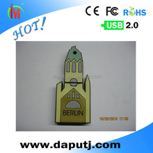 High speed novelty castle usb disk with keychain