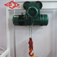 1 ton electric wire rope motor hoist with trolly construction cable pulling winch kito ceane hoist