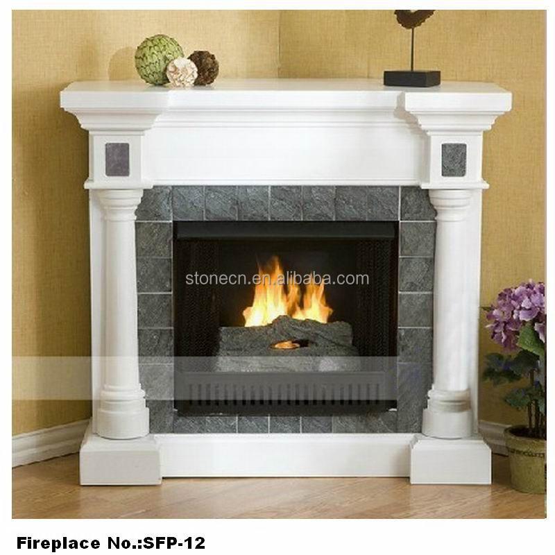 Marmol blanco francés piedra decorar esquina chimenea repisa de la ...