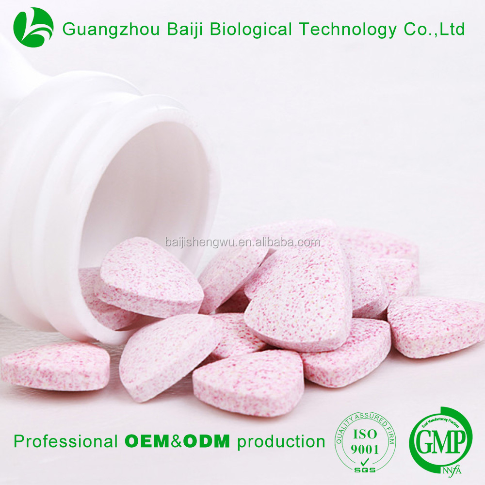 OEM Service Health Food Mulitivitamin Herbal Fruits Supplements Cranberry Candy Tablets