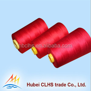 China supplier 100% polyester sewing thread for roll machine sewing thread