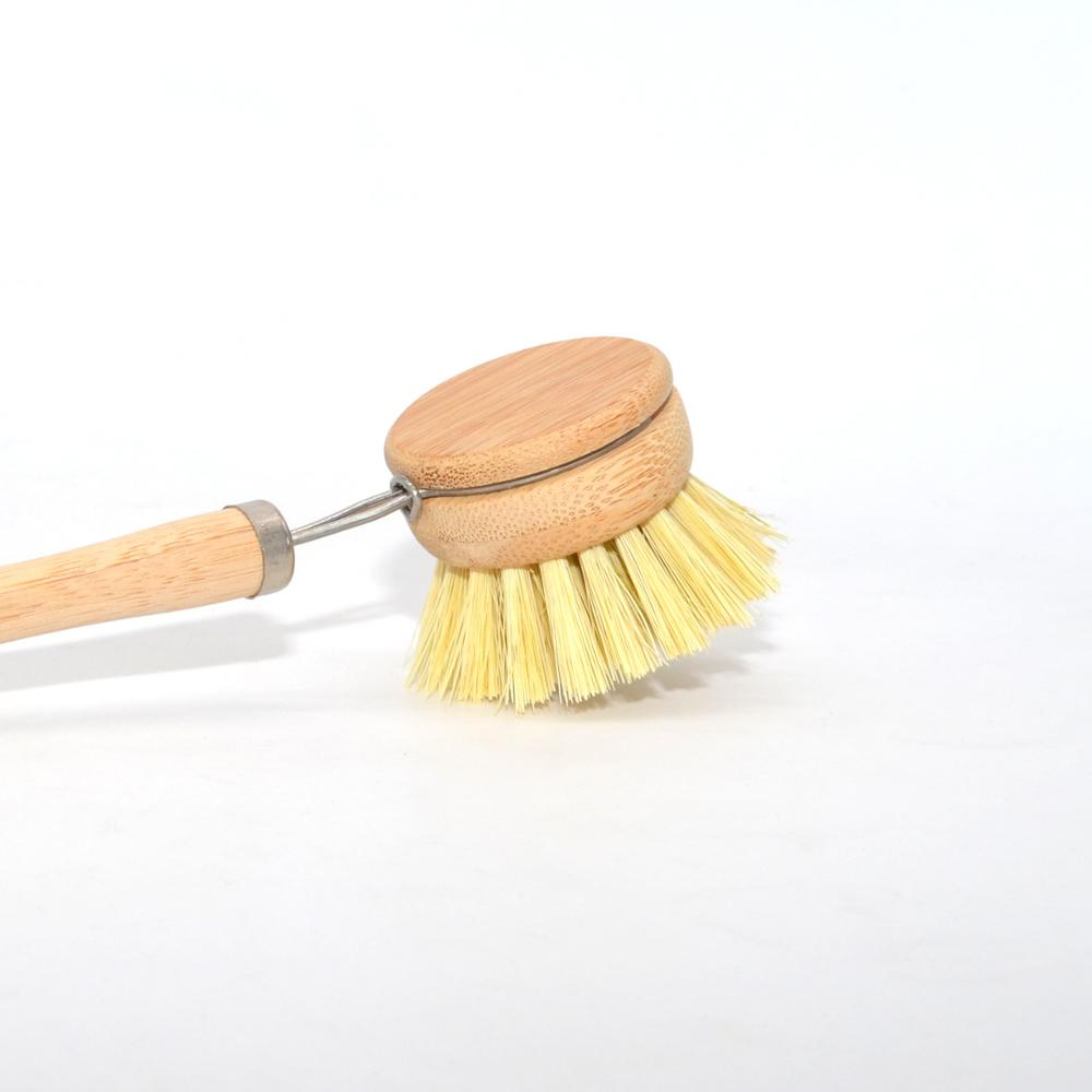 Factory Sale Wooden Dish Washing Brush Pan Cleaning Brush Replacement Head Wooden Handle