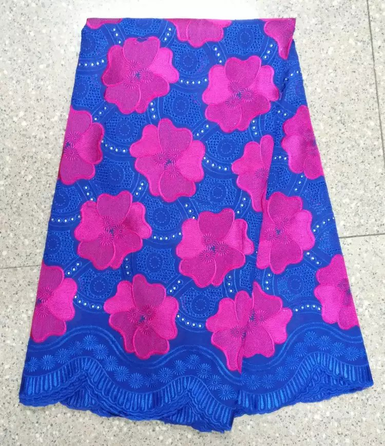 wholesale price in swiss voile lace in switzerland / 100% cotton swiss voile lace fabric