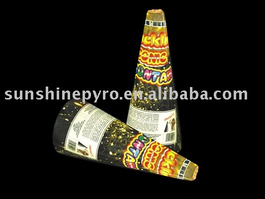 china firework crackling conic fountain fireworks for pyrotechnics