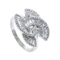 Best Quality 925 Sterling Silver Cubic Zirconia Brand Logo Rings jewelry