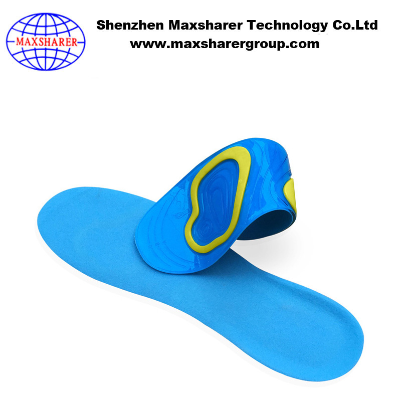new wholesale chinese supplier silica gel knee pain relief insole sneaker shock absorber foot pad