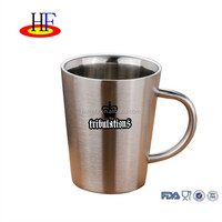 2017 innovative product custom printing stainless steel coffee mugs with handle double wall dinsulated beer tea cup