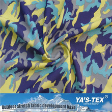UV 50 Sun Resistant Polyester Fabric , Colorful Camouflage Sunbrella Fabric