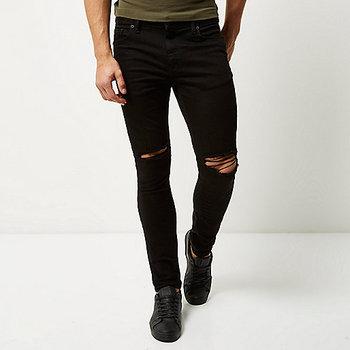 59fa6c7ea89 Пользовательские оптовая продажа мужские джинсы высокого качества черные  рваные Sid узкие джинсы