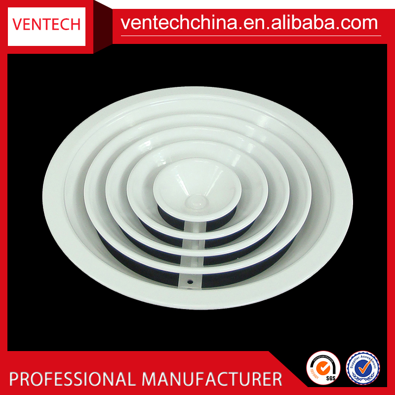 China suppliers adjustable air vent round ceiling diffuser