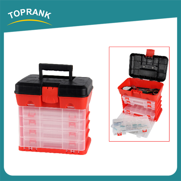 New design multi compartments portable mechanic us general plastic tool box