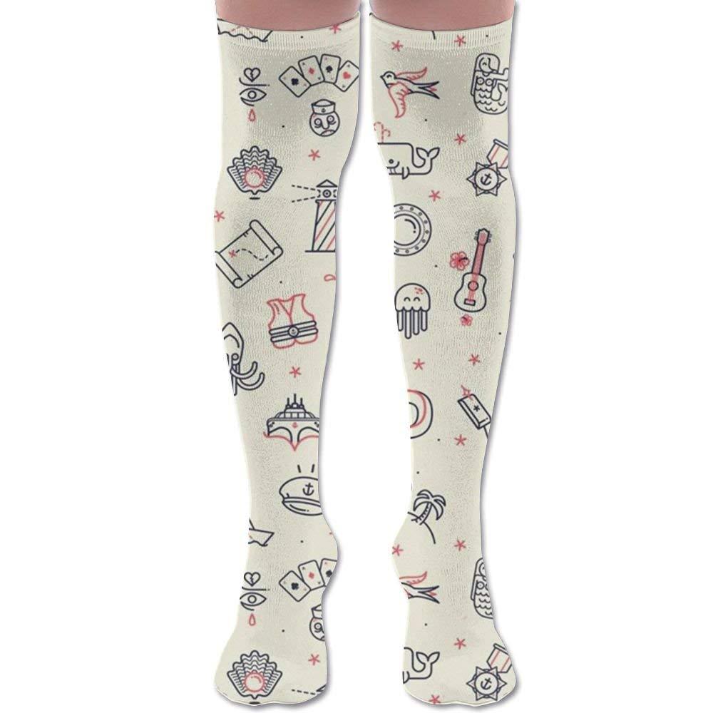 6e203c79d XYMNZGS Fun Kitchenware Womens Socks Knee High Over The Knee Socks For Boot  Mens Socks