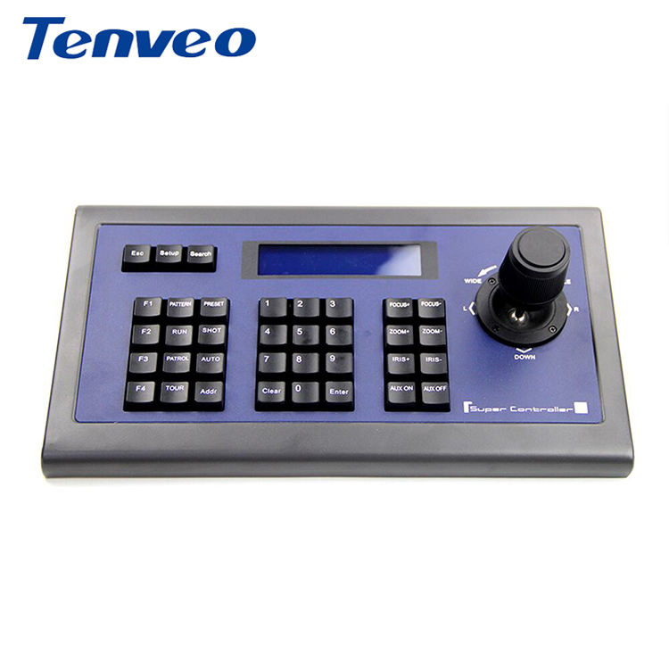 Tenveo Hoge Kwaliteit Video Camera Keyboard Controller voor PTZ Video Conference Camera