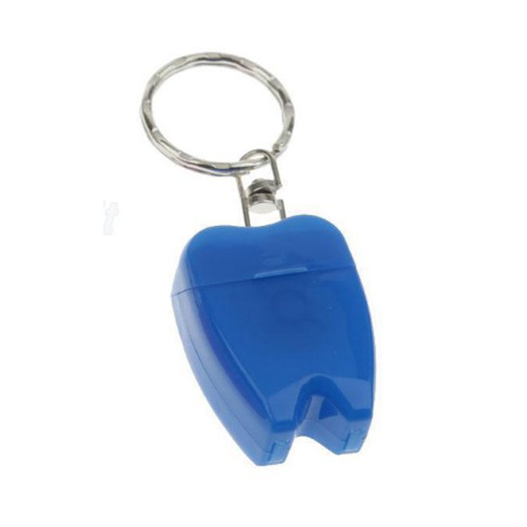 Hot Selling Tooth Shaped Dental Floss keychain