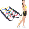 Multi Color 8 Shaped Chest Developer Elastic Tension Rope Yoga Pilates Fitness bandas de resistencia bands