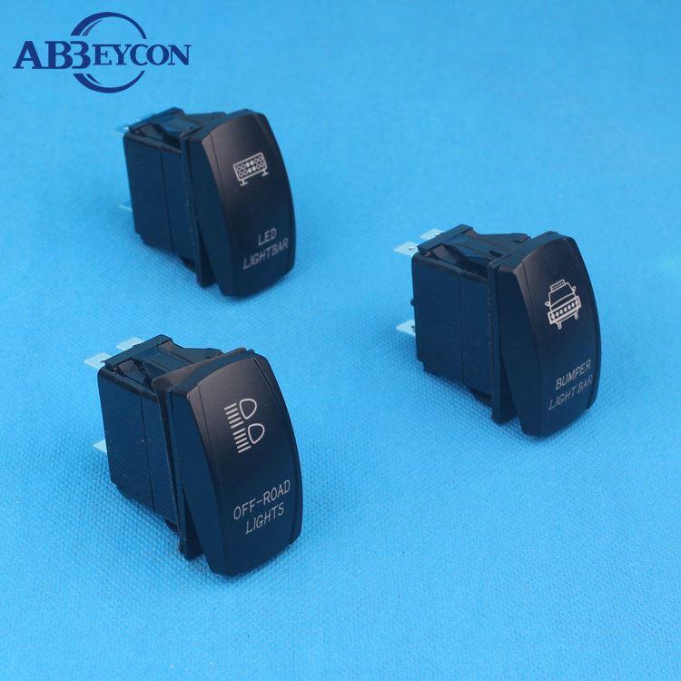 DaierTek 5 Pin Driving Lights Rocker Switch Waterproof Blue LED Light Toggle Switch SPST ON-Off 20A 12//24VDC