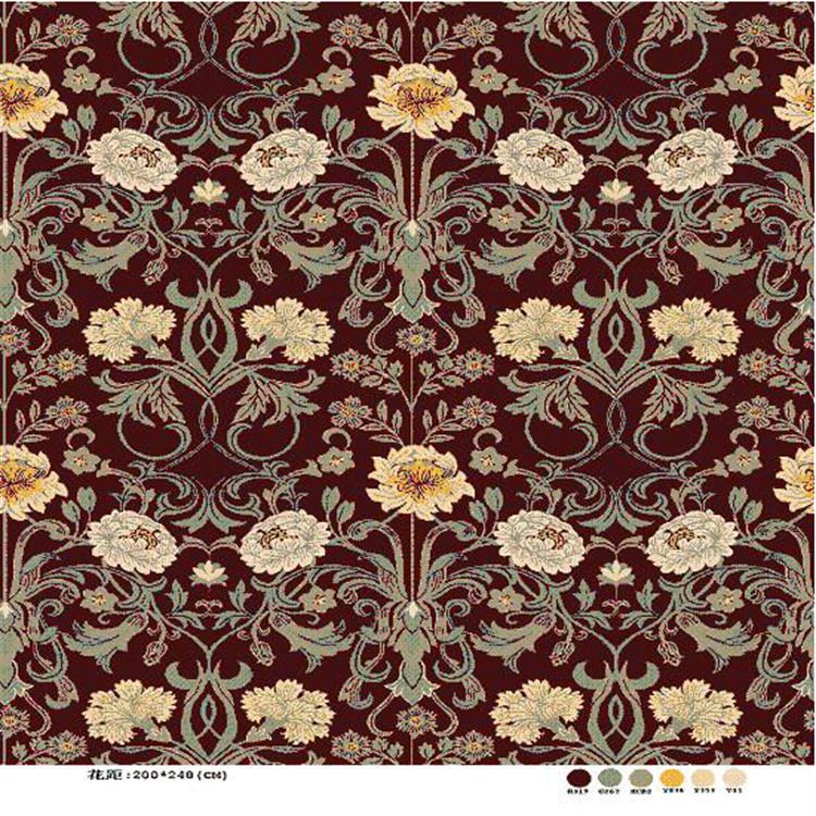 Printed Chrysanthemum Pattern Axminster Carpet Buy