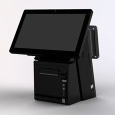 15''+12'' Dual Screen POS System point of sale all in one for Restaurant