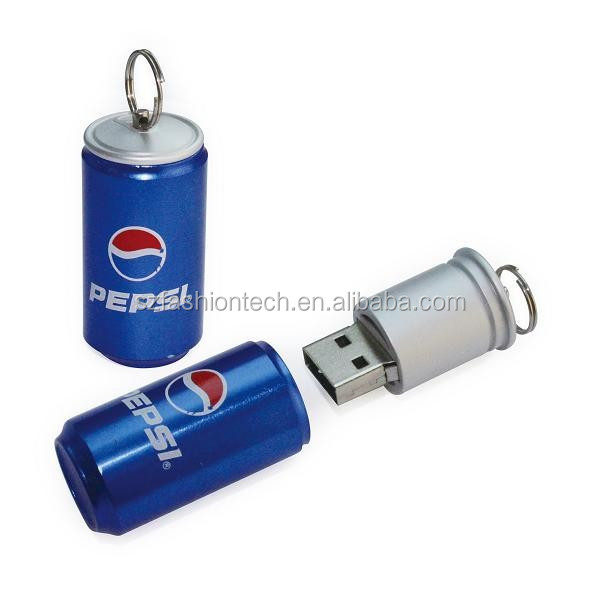 customized cola can usb flash drive, promotional gift usb flash drive