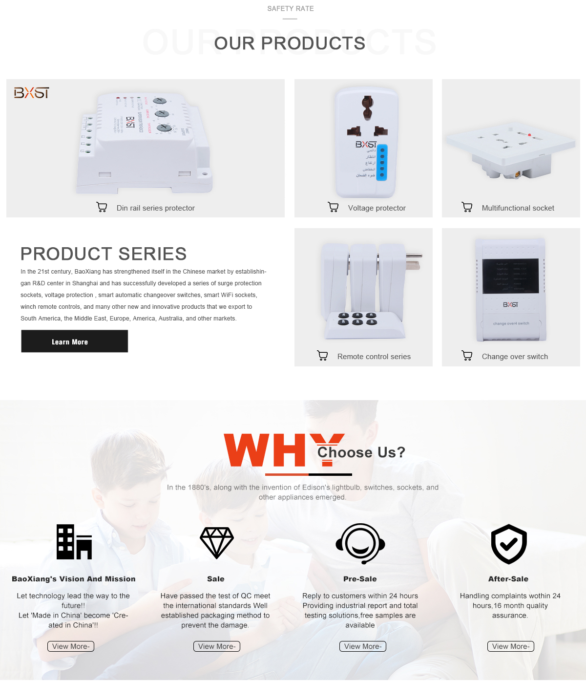 Wenzhou BXST Co., Ltd. - Protector, Change Over Switch