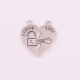 IMG 1316 Yiwu Huilin jewelry New Arrival 2 parts I Love You Lock key heart couple charms Pendant