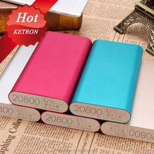 Aluminium alloy royal power bank 20000mah with micro cable