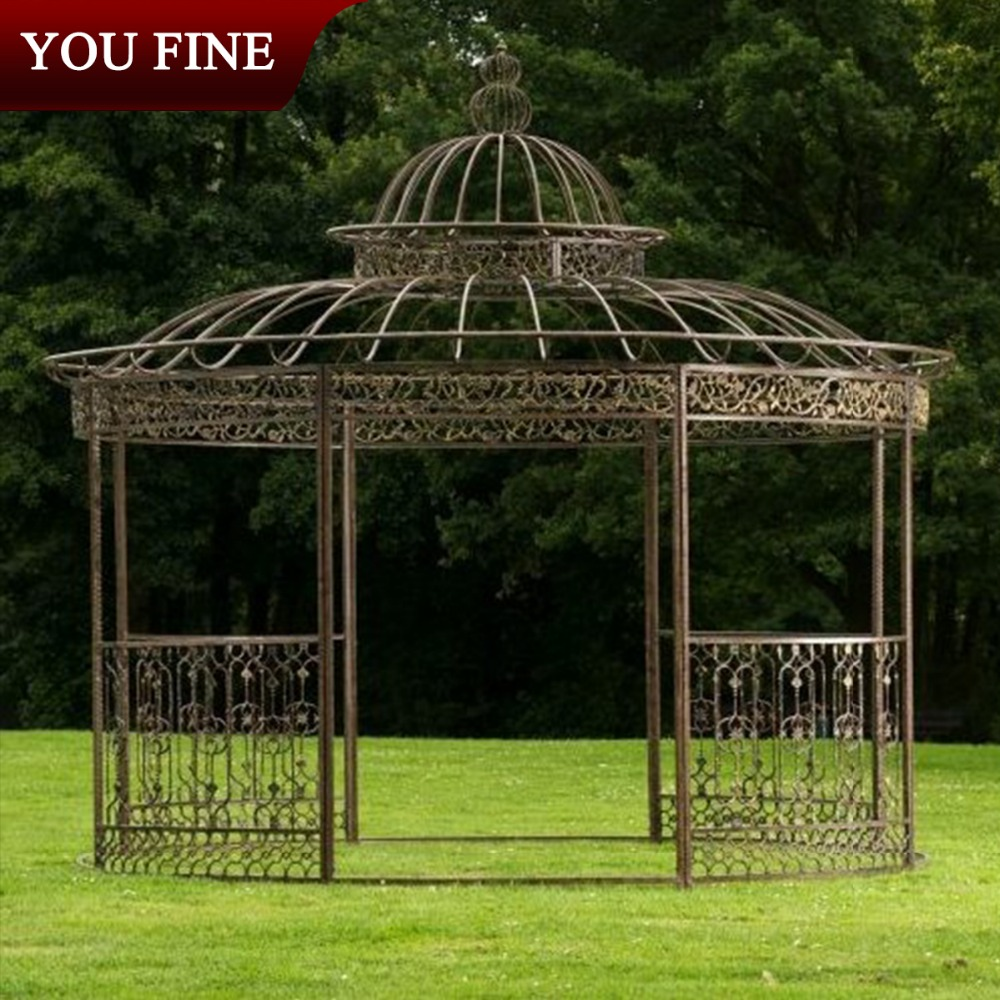 Used In Outdoor Round Metal Decorated Cast Iron Gazebo Buy Cast
