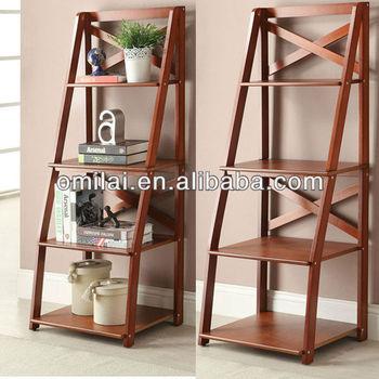 image ladder bookshelf design simple furniture. Four Shelves Ladder Simple Bookshelf Design Image Furniture Q
