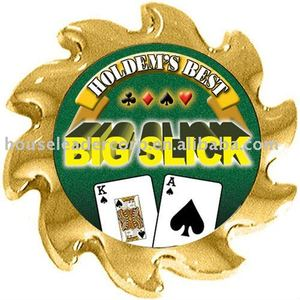 """Big Slick"" Spinners Poker Card Guards"